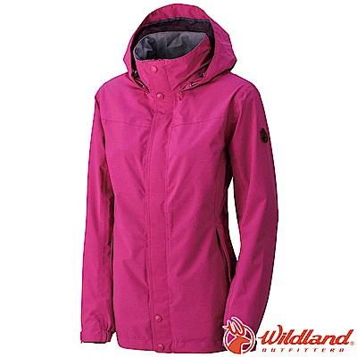Wildland 荒野 W3911-20玫瑰紅 女CHAMP-TEX防水透氣外套