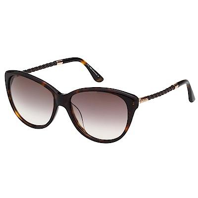 TOD'S 時尚貓眼 編織腳 太陽眼鏡(琥珀色)TO9082