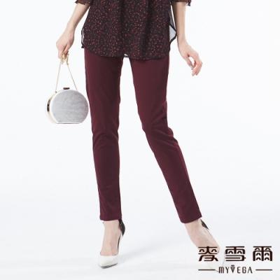 【麥雪爾】棉質極簡鬆緊腰身長褲
