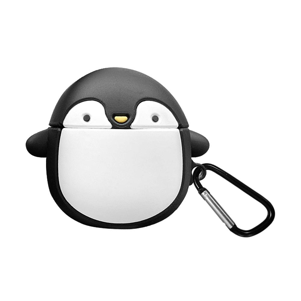 軟萌企鵝造型 AirPods/AirPods 2專用 矽膠保護套(附吊環)