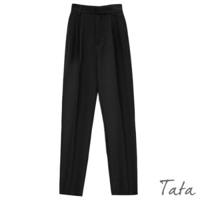 後鬆緊腰直筒西裝褲 TATA-(S~L)