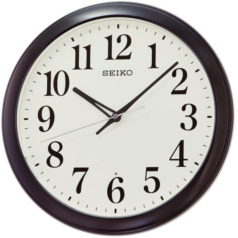 SEIKO 日本精工 滑動式秒針 靜音 掛鐘(QXA776K)黑框/33cm