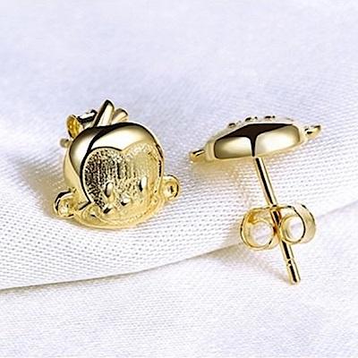 米蘭精品 925純銀耳環-可愛小猴子耳環