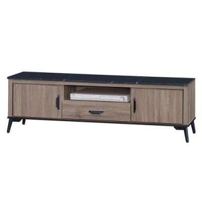 綠活居 菲迪 現代風5尺黑紋石面電視櫃/視聽櫃-151x41x43.5cm免組