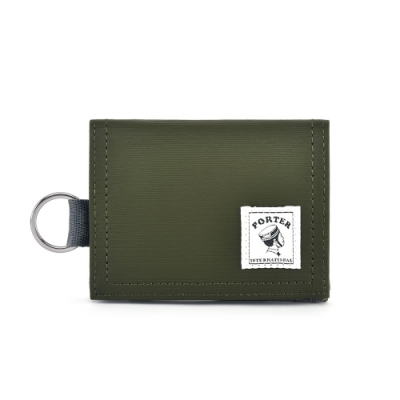 PORTER - 輕巧實用CATCH經典零錢包 - 灰綠
