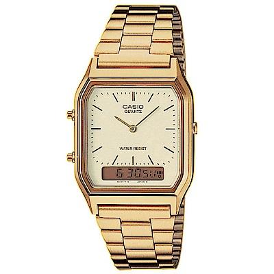CASIO金色時尚不鏽鋼錶(共2款可選)