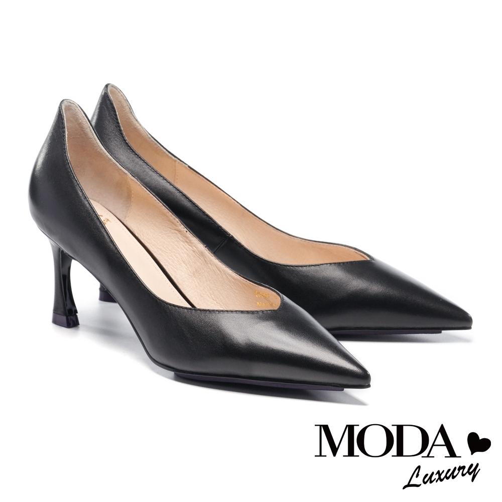 高跟鞋 MODA Luxury 典雅自信羊皮尖頭高跟鞋-黑