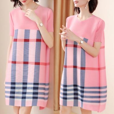 【KEITH-WILL】(預購) 甜心英倫格子休閒洋裝-2色