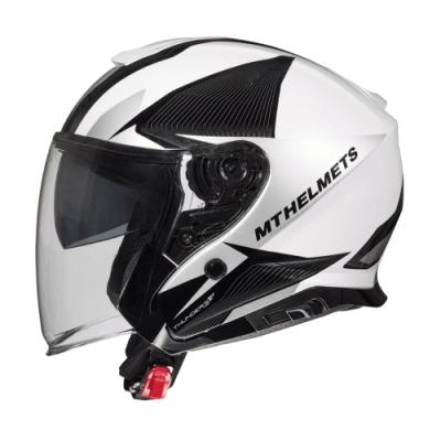 MTHELMETS MT安全帽 THUNDER3 sv Jet WNG系列珍珠白灰