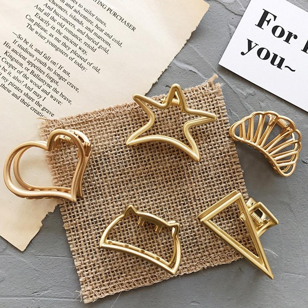 Hera 赫拉 磨砂設計時髦多元啞光抓夾/髮夾-5款