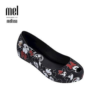 Melissa X Mickey 款娃娃鞋兒童款-黑色