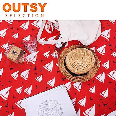 【OUTSY嚴選】限量款輕量印花野餐墊 夏日風帆
