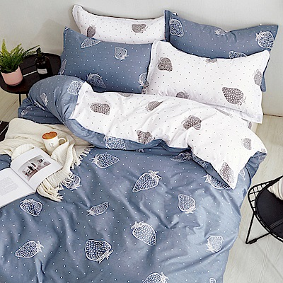 Ania Casa 草莓之戀 加大三件式 100%精梳棉 台灣製 床包枕套純棉三件組