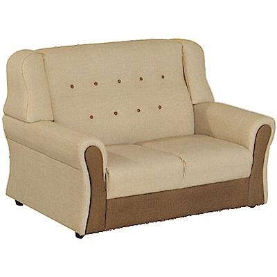 綠活居 隆尼雙色貓抓皮革二人座沙發椅-138x84x88cm免組