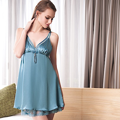 華歌爾睡衣-性感 M-L 裙裝(藍綠)