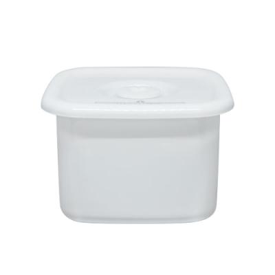 野田琺瑯 White Series系列方型密封盒(樹脂蓋.0.7L)