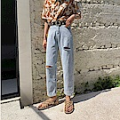 韓國空運 挺板破損牛仔褲-TMH