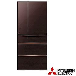 (贈好禮)MITSUBISHI三菱 705L 1級變頻6門冰箱 MR-WX71Y-BR/P
