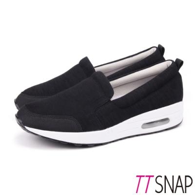 TTSNAP運動鞋-MIT真氣墊輕量透氣休閒鞋 黑