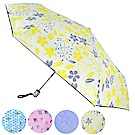 [團購2入組] 2mm 100%遮光 采漾印花黑膠降溫自動開收傘