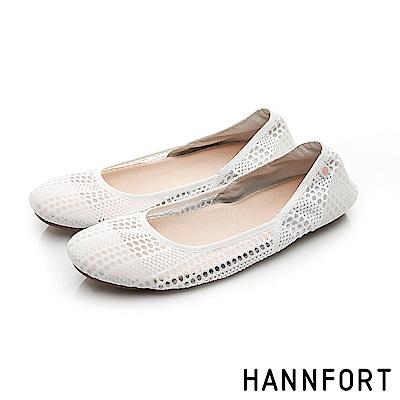 HANNFORT FLEX360果凍系網布娃娃鞋-女-豆花白