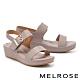涼鞋 MELROSE 極簡時尚一字繫帶楔型涼鞋-灰 product thumbnail 1