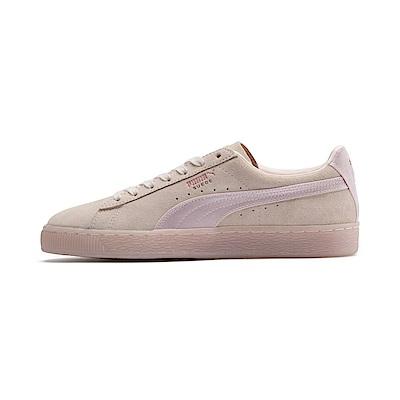 PUMA-SuedeClassicSatinWn s女性復古籃球運動鞋-珍珠色