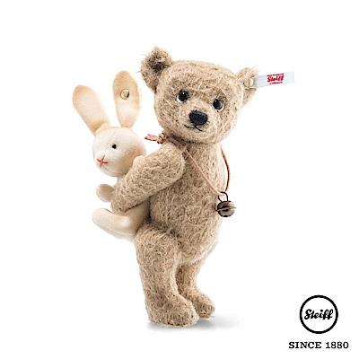 STEIFF德國金耳釦泰迪熊 熊與兔子 Bear Emil with Rabbi(限量版)