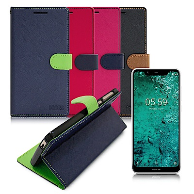 FOCUS for Nokia  5 . 1  Plus  5 . 8 吋 糖果繽紛支架皮套