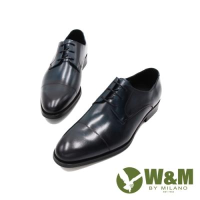 W&M(男)質感刷染經典正裝皮鞋 男鞋 - 刷色藍(另有刷色咖)