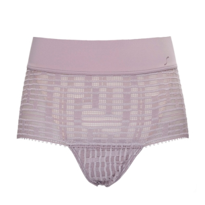 S by sloggi 高端系列蕾絲精品中腰小褲 霧粉紫 74-6682 UT
