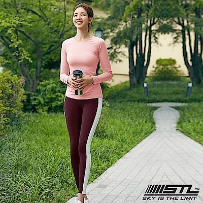 STL legging 9 韓 女 高腰側邊條運動機能拉提褲 高調酒紅