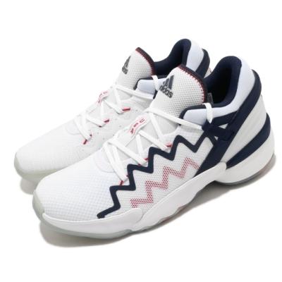 adidas 籃球鞋 DON Issue 2-GCA 男鞋 愛迪達 運動 緩震 透氣 NBA球星 白 藍 FY0872