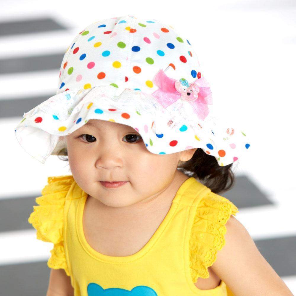 WHY AND 1/2 mini 點點遮陽帽