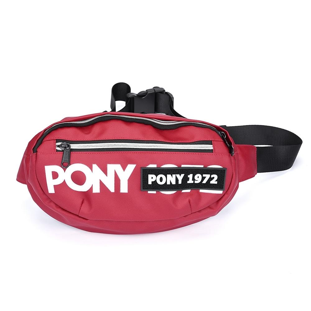 【PONY】輕便百搭腰包 斜背包 紅