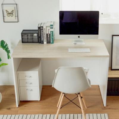 完美主義 質感配色木紋工作桌/電腦桌/書桌/辦公桌(2色)