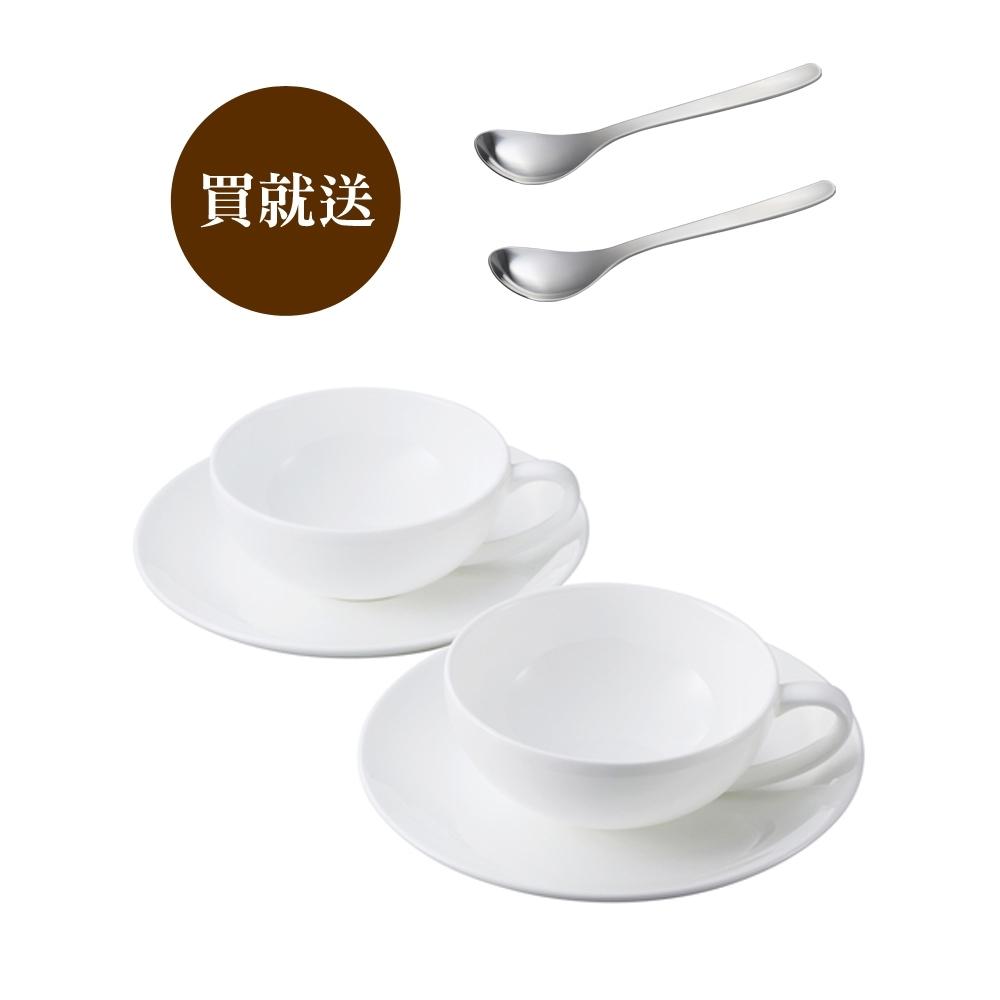 【買就送2入柳宗理茶匙】柳宗理 骨瓷茶杯對杯組