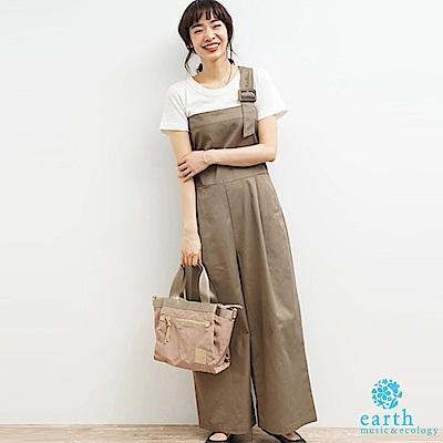 earth music 單肩吊帶設計連身褲