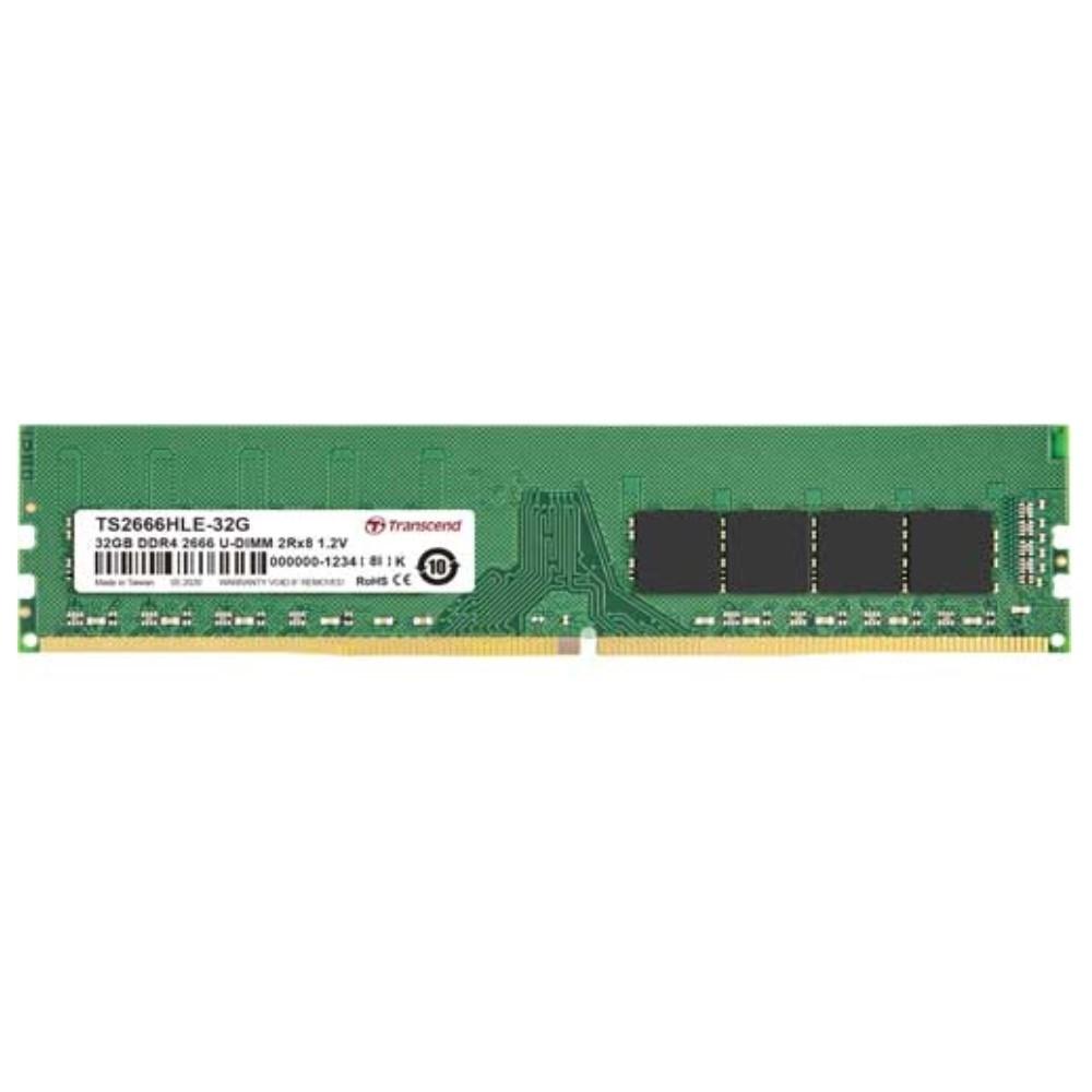 Transcend創見 TS系列  DDR4-2666MHz 32GB 桌上型記憶體