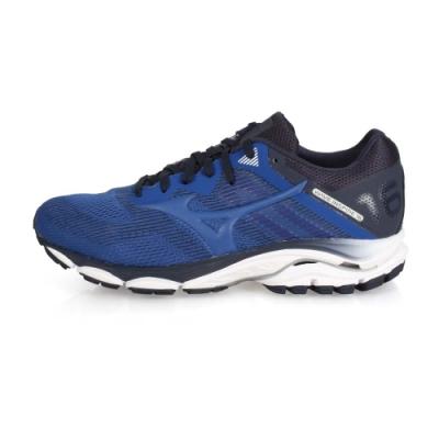 MIZUNO 男慢跑鞋-WIDE WAVE INSPIRE 16 藍丈青