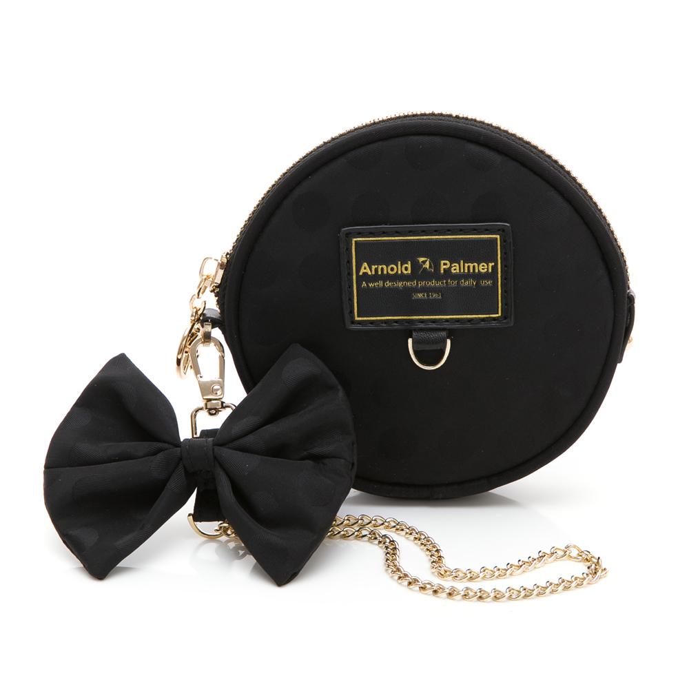Arnold Palmer- 零錢包(拉丁-可愛花朵)系列-黑色