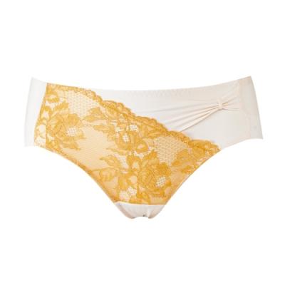 蕾黛絲-20週年V真水搭配無痕內褲 M-EL 好心情黃