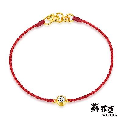 蘇菲亞SOPHIA - G LOVER系列經典水晶黃金手環