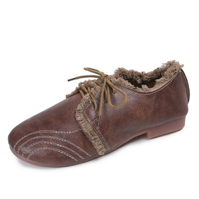KEITH-WILL時尚鞋館 特惠款歐美復古休閒鞋-棕