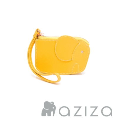 aziza 象型手拎零錢包 黃