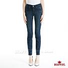 BRAPPERS 女款 新美腳Royal系列-中腰彈性鑲鑽窄管褲-深藍