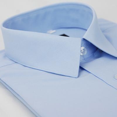 金‧安德森 藍色窄版長袖襯衫