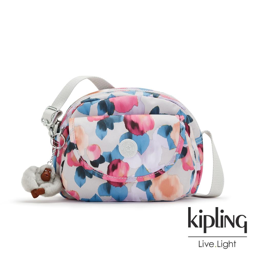 Kipling 繽紛夢幻花繪翻蓋側背小包-STELMA