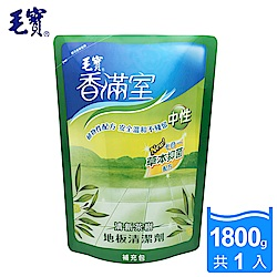 毛寶香滿室地板清潔劑(清新茶樹)補1800G