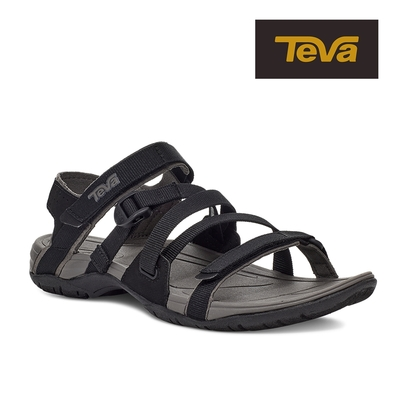 【TEVA】原廠貨 女 Ascona Sport WEB 運動休閒多功能織帶涼鞋/雨鞋/水鞋(黑色-TV1116647BLK)